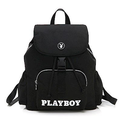 PLAYBOY- 後背包  黑白風尚系列 -黑色