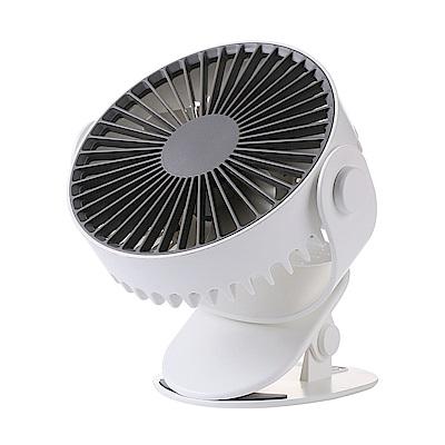[時時樂限定] 桌面夾式風扇 立式風扇 360度旋轉 USB充電