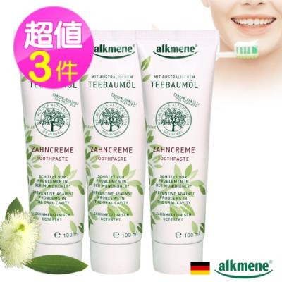 德國alkmene茶樹精油抗菌牙膏100ml三入
