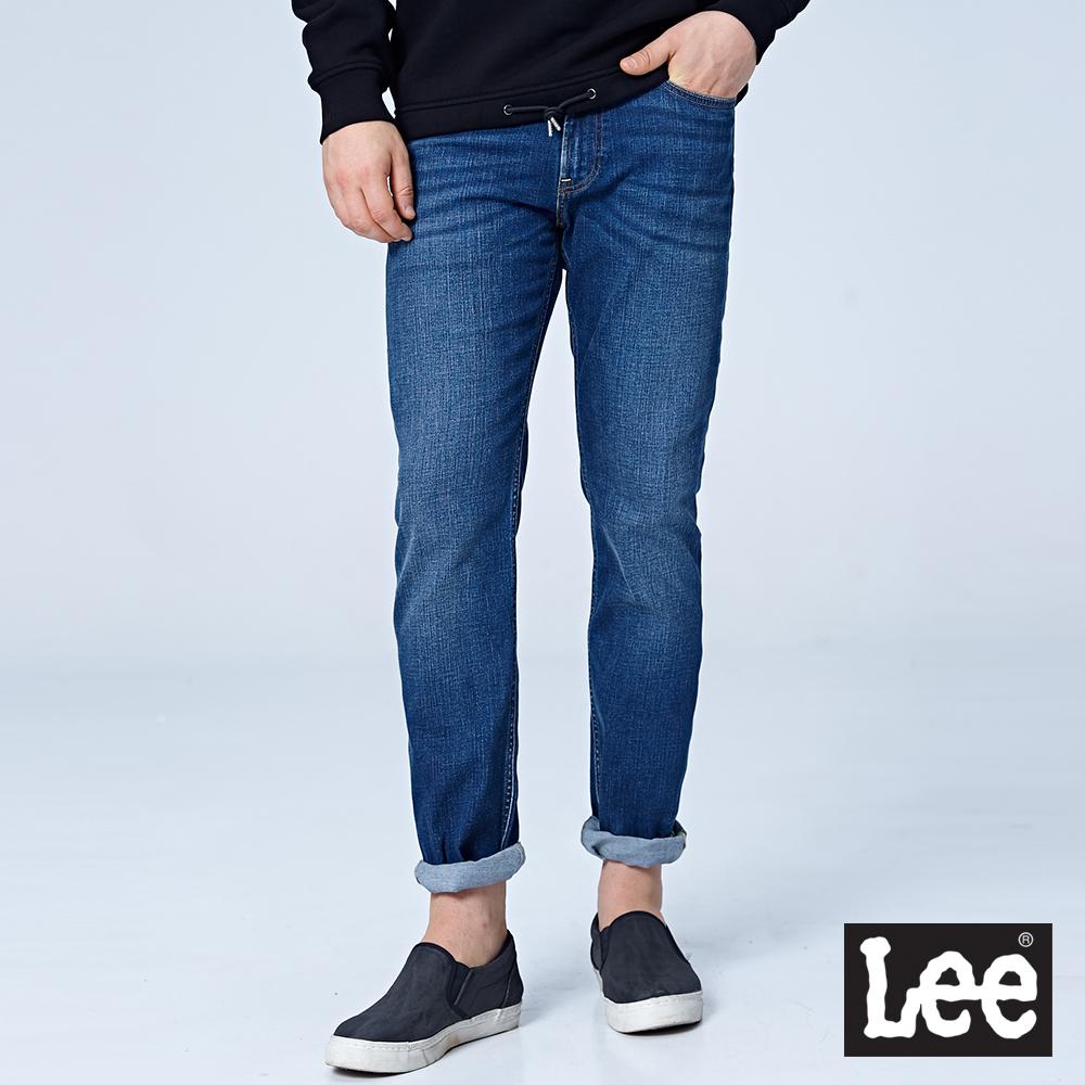 Lee 743中腰舒適直筒牛仔褲/RG-中藍色