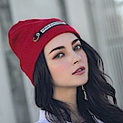 DADA SUPREME  潮流釦環裝飾毛帽-紅