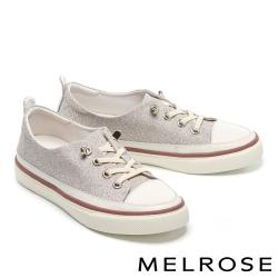 休閒鞋 MELROSE 時髦率性金蔥造型厚底休閒鞋-粉