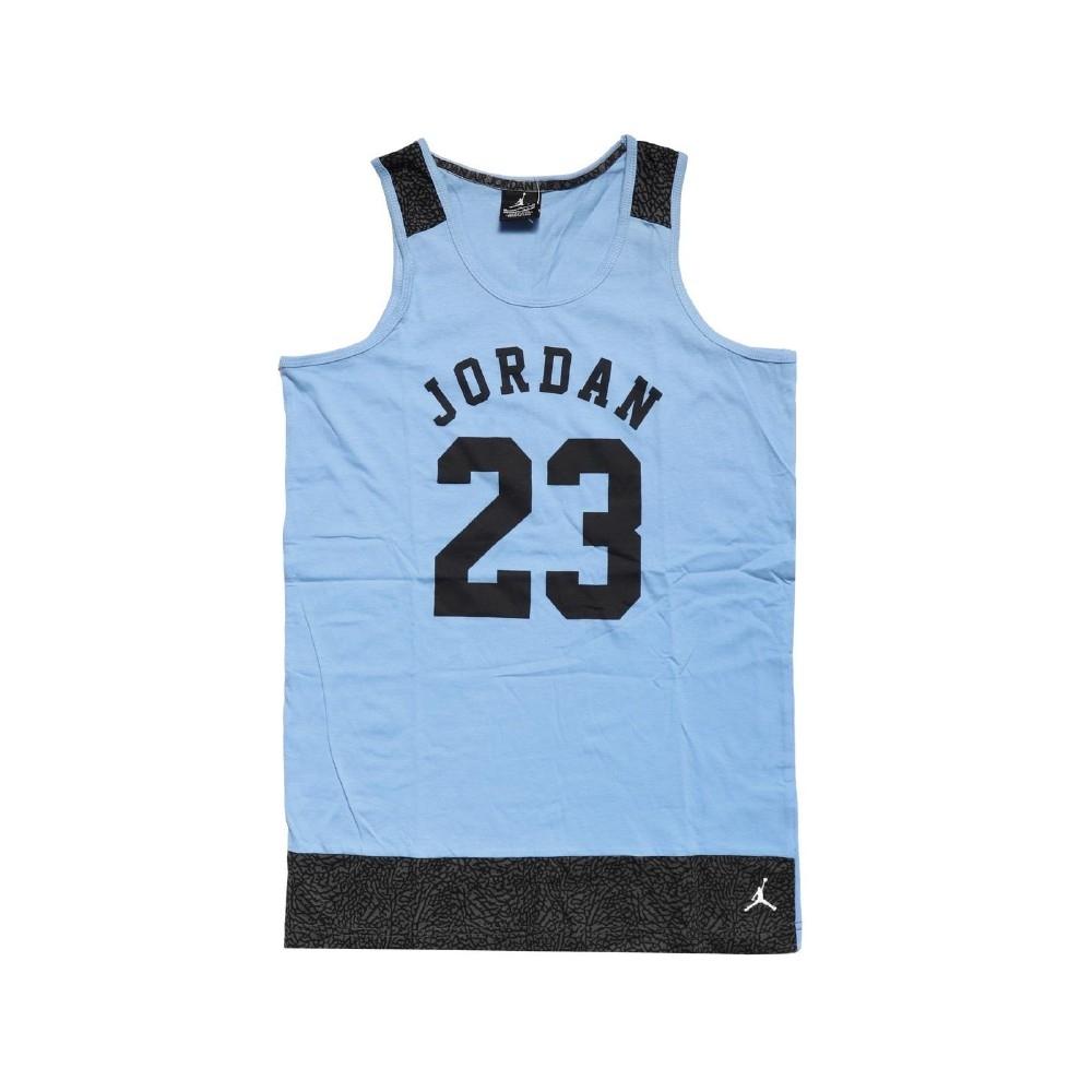 Nike 背心 Jordan Tank 童款 喬丹 飛人 小朋友 運動休閒 23號 藍 黑 53311ST513206