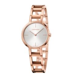 Calvin Klein CK 極致經典玫瑰金手鍊腕錶(K8N23646)35mm