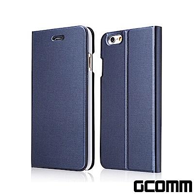 GCOMM iPhone 6S+/6+ 金屬質感拉絲紋超纖皮套