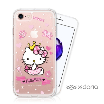 Hello Kitty iPhone 7/8 Plus 彩繪水鑽手機空壓殼 - 仙女