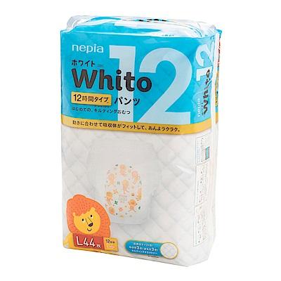 Nepia Whito王子白色系列褲型紙尿褲 日本境內十二小時版 L 44片/包