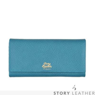 STORYLEATHER Style 90744 牛皮長夾 荔枝紋土耳其藍