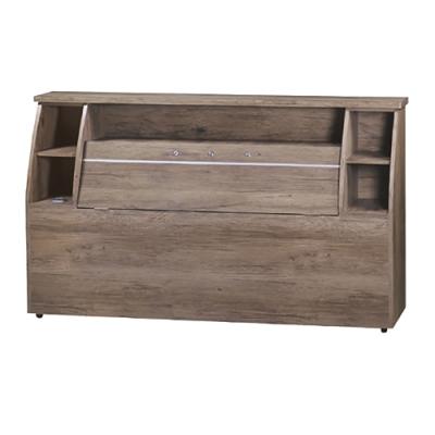 綠活居 普可時尚5尺雙人床頭箱-154.5x30x92cm免組