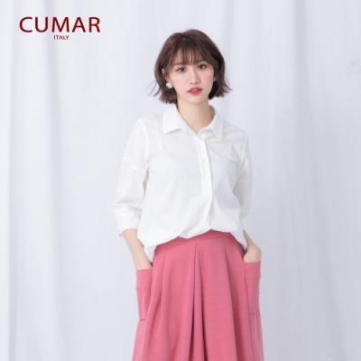 【CUMAR】百搭簡約寬鬆女短袖-襯衫(三色/魅力價格)