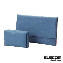 ELECOM 簡約型內袋/收納包(2入)-牛仔藍