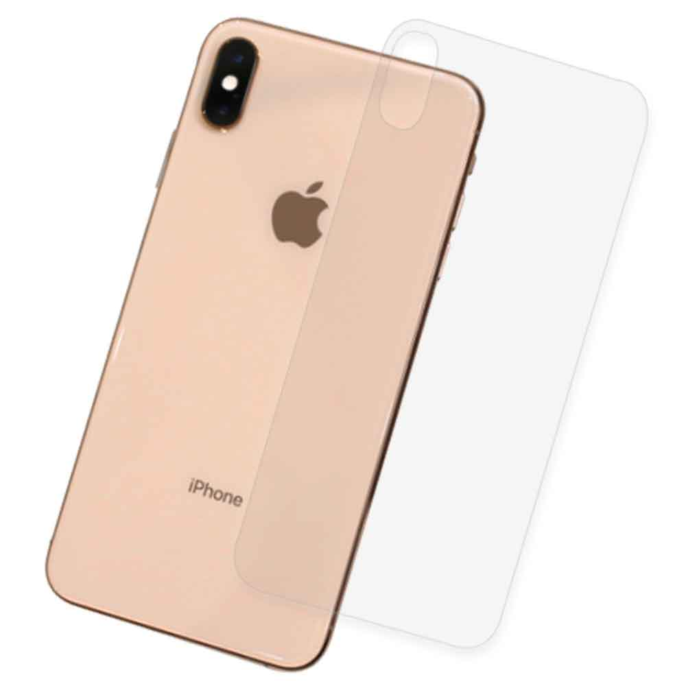 iPhone Xs Max 6.5吋 抗污防指紋超顯影機身背膜 保護貼(2入)