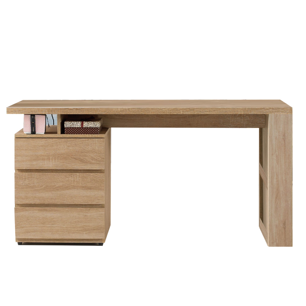 文創集 波切特時尚5尺木紋書桌/電腦桌-150x60x76cm免組