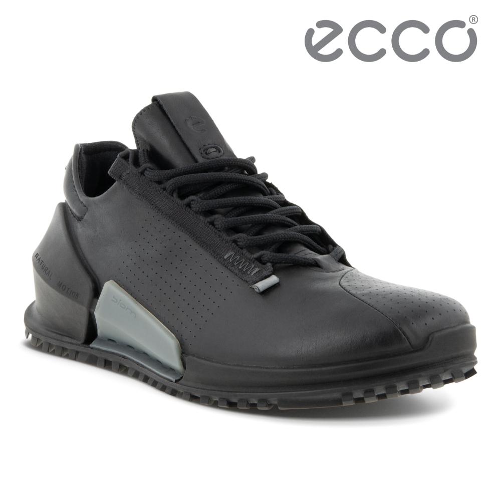 ECCO BIOM 2.0 W 皮革透氣極速運動鞋 女鞋 黑色