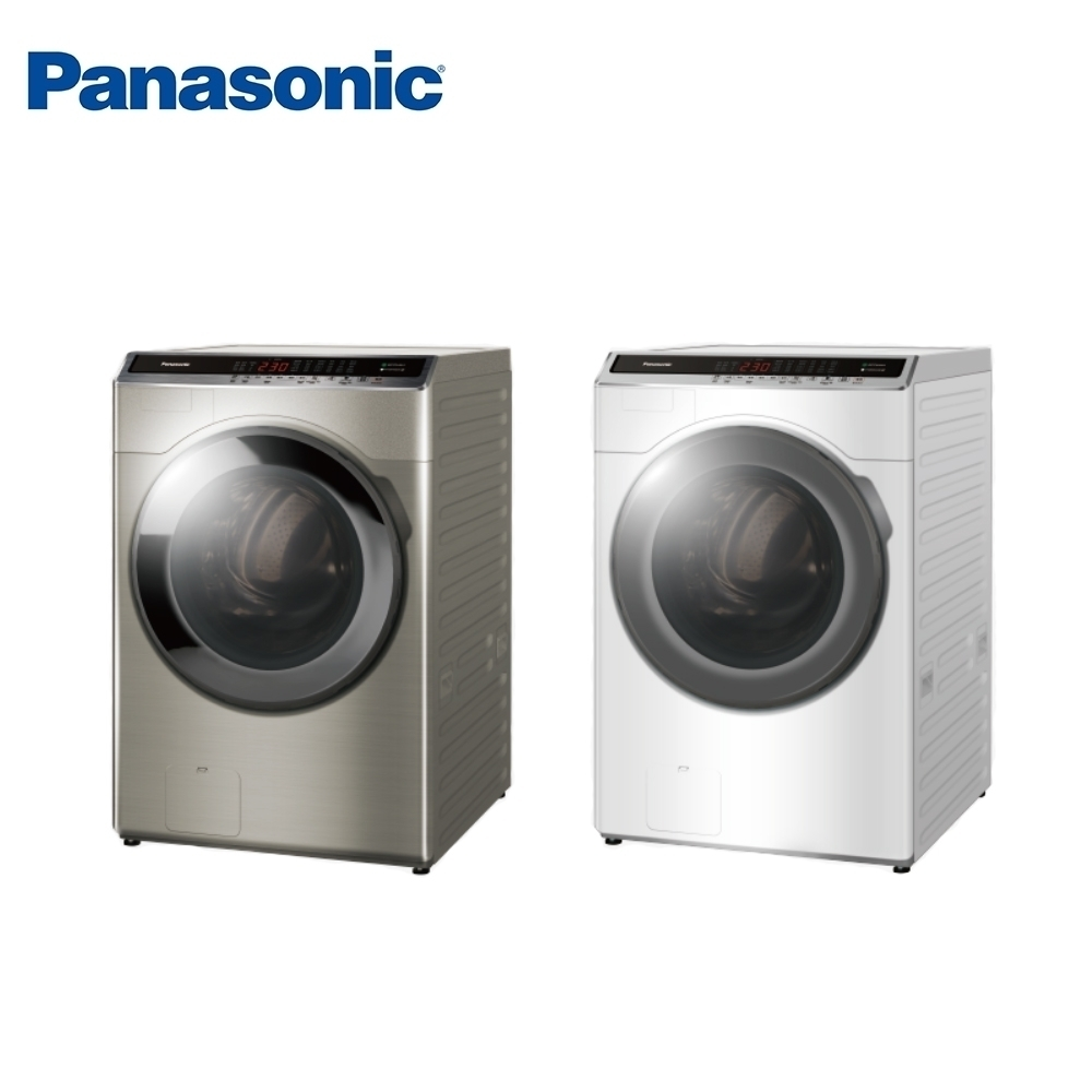 [館長推薦] Panasonic國際牌 16KG 台灣製 變頻雙科技溫水洗脫烘滾筒洗衣機 NA-V160HDH-S 銀色