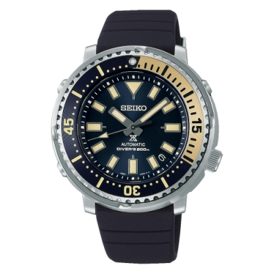 SEIKO 精工PROSPEX DIVER SCUBA 新鮪魚罐頭機械錶矽膠錶SRPF81K1/4R35-04L0B