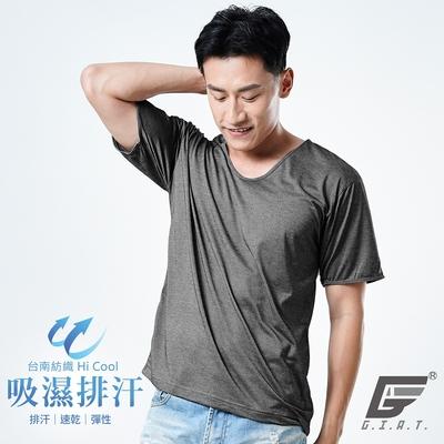 GIAT台灣製輕盈速乾吸濕排汗男內衣-短袖(黑色)