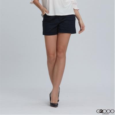 G2000素面休閒一般短褲-深藍色