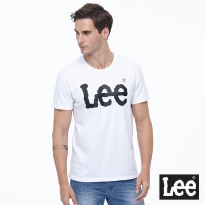 Lee 短T 大Logo短袖圓領T 男款 白色