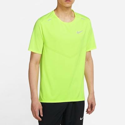 Nike DF RISE 365 SS 男短袖上衣-螢光黃-CZ9185702