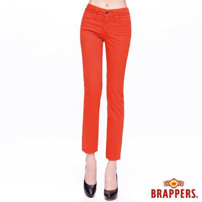 BRAPPERS 女款 新美腳Royal系列-女用中腰彈性九分褲-亮橘