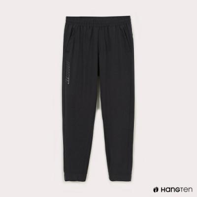 Hang Ten-男裝-恆溫多功能-REGULAR FIT標準四向彈力吸濕快乾抗曬運動長褲-深灰色