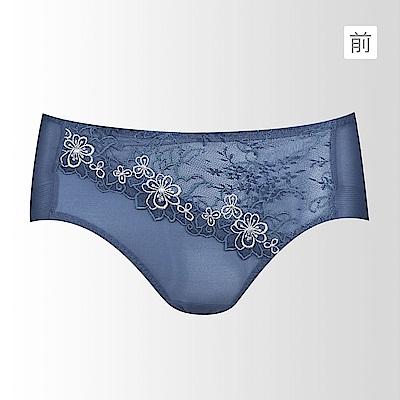 黛安芬-奢華蝶翼系列平口內褲 M-EL 經典藍