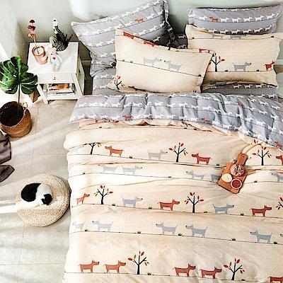 Grace Life 心靈驛站 台灣精製 雙人精梳純棉床包三件組~床圍高度35公分