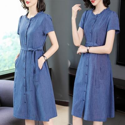 【韓國K.W.】(現貨)明星款氣質塑型顯瘦洋裝(共2色)