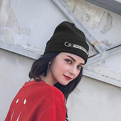 DADA SUPREME  潮流釦環裝飾毛帽-黑