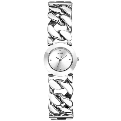 GUESS 月下圓舞曲典雅腕錶-銀-W75060L1-22mm