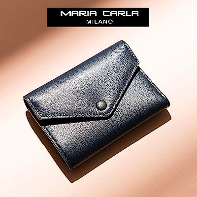 MARIA CARLA 信封三折式扣式短夾 日光步調系列(品味藍 )