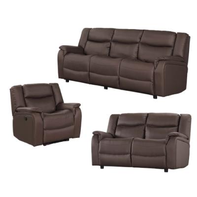 文創集 貝多高機能皮革電動沙發組合(單人電動椅+二人座+三人座組合)