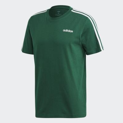 ADIDAS 休閒 運動 短袖 上衣 男款 綠 FM6230 Essentials 3-Stripes Tee