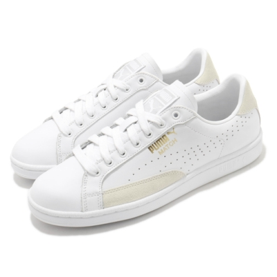 Puma 休閒鞋 Match 74 UPC 男鞋 皮革鞋面 基本款 板鞋 復古 白 米 35951810
