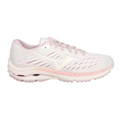 MIZUNO WAVE RIDER 24 女慢跑鞋-WIDE-路跑 美津濃 J1GD200613 白藕粉紫橘