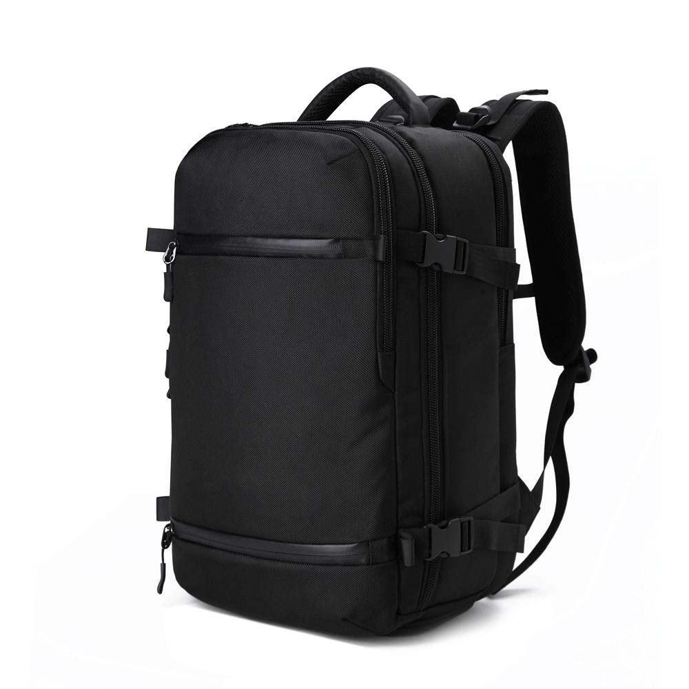 OZ8983BK大容量行李包電腦後背包附雨套17吋黑色
