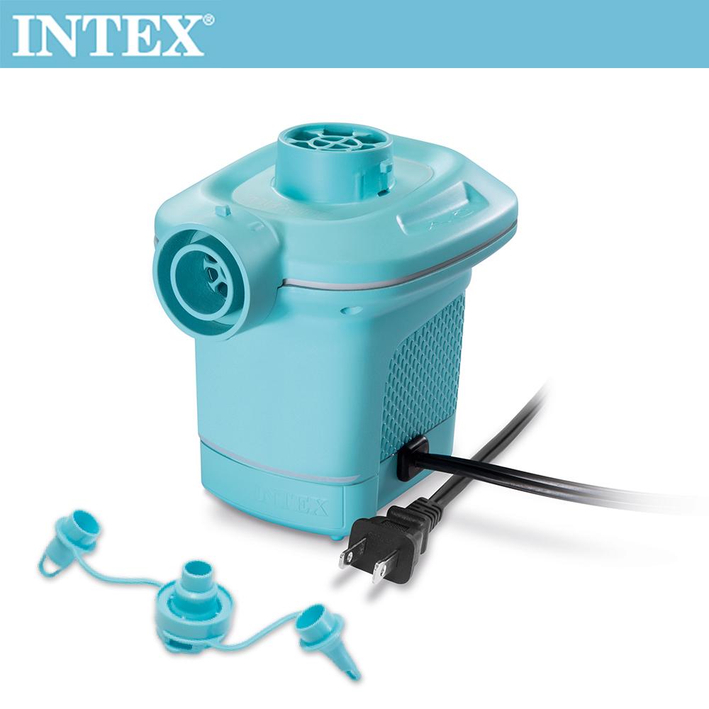INTEX 110V家用電動充氣幫浦(充洩二用)-水藍色(58639)