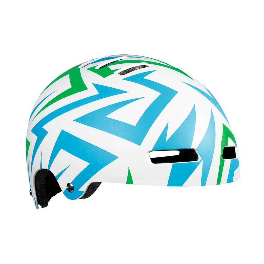【LAZER】STREET+ JR 兒童用安全帽 藍綠閃電