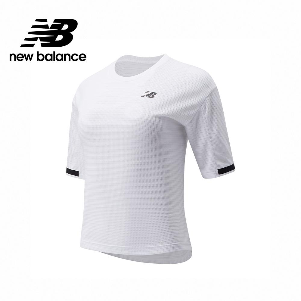 [New Balance]運動短袖上衣_女性_白色_WT13454WT (官方網路獨家款)