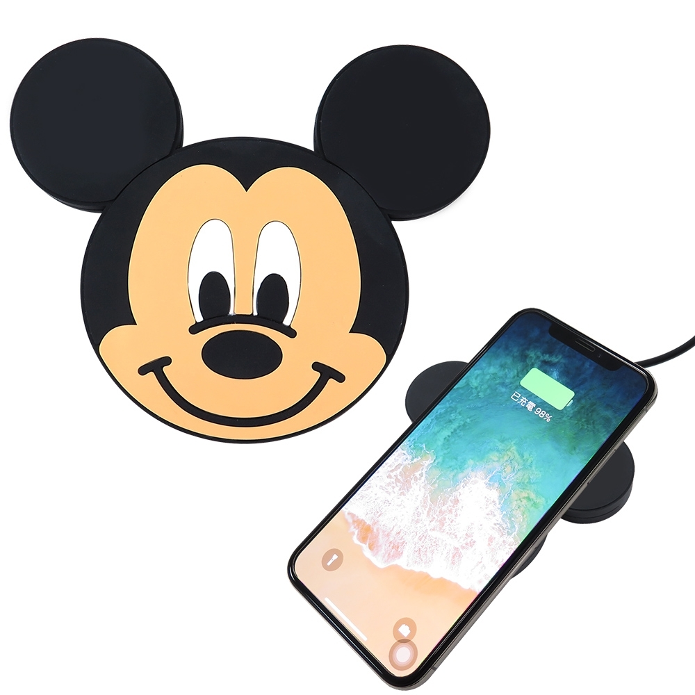 Disney迪士尼可愛大頭無線充電座/充電板 米奇