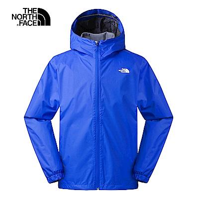 The North Face北面男款寶藍色防水透氣連帽衝鋒衣 3L88BL5