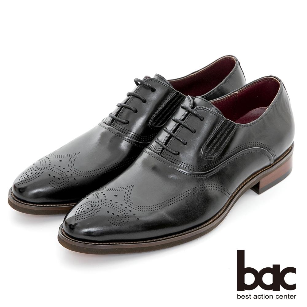 【bac】專利氣墊 抗震分壓真皮氣墊鞋-黑