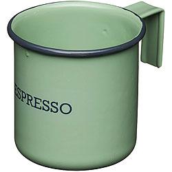 《KitchenCraft》復古琺瑯濃縮咖啡杯(綠75ml)