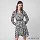 ALLSAINTS MARTINA 斑馬紋襯衫式短洋裝-白 product thumbnail 1
