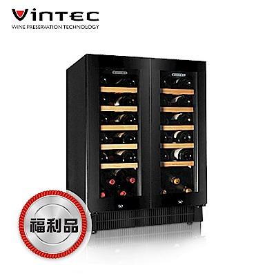 福利品 VINTEC 雙門雙溫酒櫃 V40DG2e BK