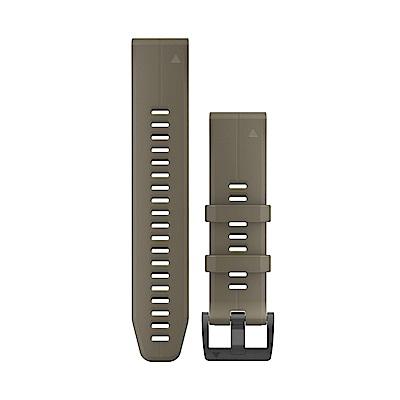 GARMIN QUICKFIT 22mm 狼棕色矽膠錶帶