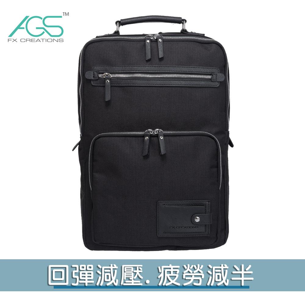 KAG-15.6吋AGS回彈減壓電腦背包-黑 KAG69637A-01