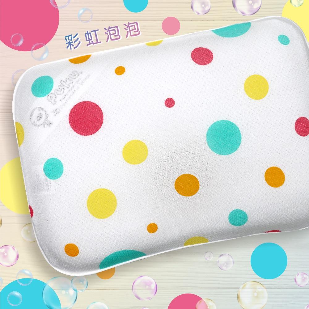 【PUKU】Air護頭型3D嬰兒枕-彩虹泡泡