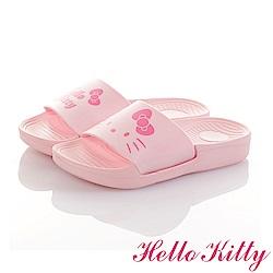 HelloKitty親子鞋童鞋 不對稱室內外拖鞋-粉